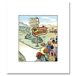 """Bizarro! """"Burger Wisdom"""" Numbered Limited Edition Hand Signed by creator Dan Piraro; Letter of Authe"""