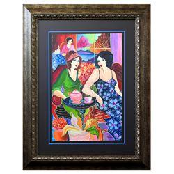 "Patricia Govezensky- Original Watercolor ""Chaya & Esther"""