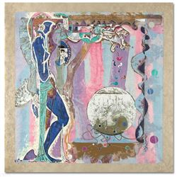 """""""Concerto"""" Limited Edition Serigraph on Rice Paper (38"""" x 39"""") by Renowned Artist Lu Hong, Numbered"""