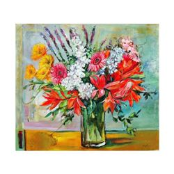 """Lenner Gogli, """"Ornate Bouquet"""" Limited Edition on Canvas, Numbered and Hand Signed with Letter of Au"""