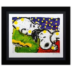 """Tom Everhart- Hand Pulled Original Lithograph """"Borning Snoring"""""""