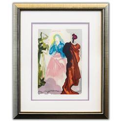 "Salvador Dali- Original Color Woodcut on B.F.K. Rives Paper ""Paradise 33"""