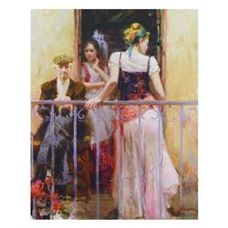 """Pino (1939-2010)- Hand Embellished Giclee on Canvas """"Family Time"""""""
