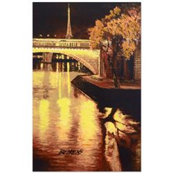 """Howard Behrens (1933-2014), """"Twilight on the Seine, I"""" Limited Edition Hand Embellished Giclee on Ca"""