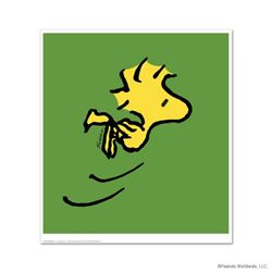 """Peanuts, """"Woodstock"""" Hand Numbered Limited Edition Fine Art Print with Certificate of Authenticity."""