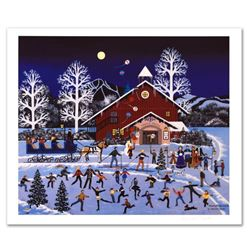 """Jane Wooster Scott, """"Moonlight Merriment"""" Hand Signed Limited Edition Lithograph with Letter of Auth"""