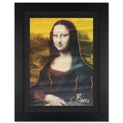 "Ringo Daniel Funes - (Protege of Andy Warhol's Apprentice - Steve Kaufman) - ""Mona Lisa"" Framed One-"