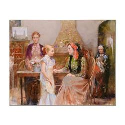 """Pino (1939-2010), """"Generations of Faith"""" Artist Embellished Limited Edition on Canvas (48"""" x 38""""), H"""