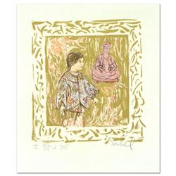 """Edna Hibel (1917-2014), """"Temple Visit"""" Limited Edition Lithograph with Remarque, Numbered and Hand S"""