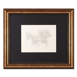 """Guillaume Azoulay, """"Progression AZJ"""" Framed Original Drawing, Hand Signed with Letter of Authenticit"""