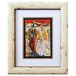 "Patricia Govezensky- Original Watercolor ""It's a Date"""