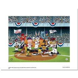 """""""Line Up At The Plate (Indians)"""" is a Limited Edition Giclee from Warner Brothers with Hologram Seal"""