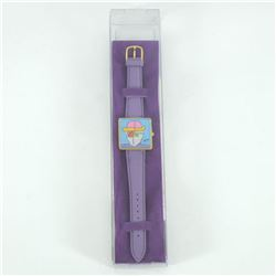 """Vintage Peter Max """"Face"""" Watch with Original Packaging and Paperwork."""
