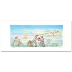 """""""Sunset"""" Limited Edition Lithograph by Edna Hibel (1917-2014), Numbered and Hand Signed with Certifi"""
