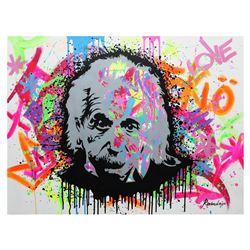 "Nastya Rovenskaya- Original Oil on Canvas ""Einstein is Right Again"""