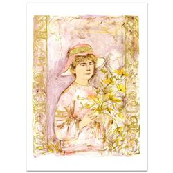 """""""Flora"""" Limited Edition Lithograph by Edna Hibel (1917-2014), Numbered and Hand Signed with Certific"""
