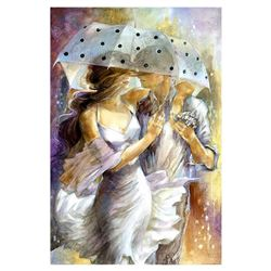 """Lena Sotskova, """"One Day in May"""" Hand Signed, Artist Embellished Limited Edition Giclee on Canvas wit"""
