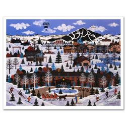 "Jane Wooster Scott, ""Sun Valley Winter Wonderland"" Hand Signed Limited Edition Lithograph with Lette"