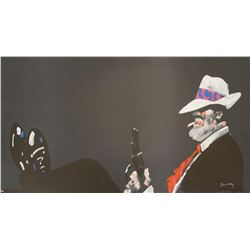 "Waldemar Swierzy (1931-2013)- Hand Pulled Original Lithograph ""The Boss"""
