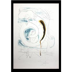 """Salvador Dali- Original Engravings with Lithographic Color """"The Visceral Circle of the Cosmos"""""""