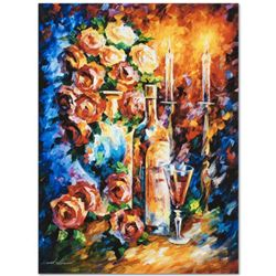 """Leonid Afremov (1955-2019) """"Shabbat II"""" Limited Edition Giclee on Canvas, Numbered and Signed. This"""
