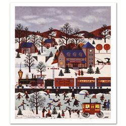 """Jane Wooster Scott, """"The View at Ardmore Junction"""" Hand Signed Limited Edition Lithograph with Lette"""