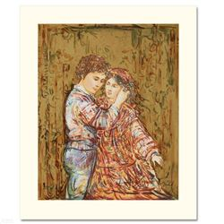 """""""Interlude"""" Limited Edition Serigraph by Edna Hibel (1917-2014), Numbered and Hand Signed with Certi"""