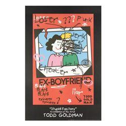 """Ex-Boyfriend"" Fine Art Litho Poster Hand Signed by Renowned Pop Artist Todd Goldman."