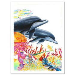 """""""Sea of Color"""" Limited Edition Giclee on Canvas (29.5"""" x 41.5"""") by Wyland, Numbered and Hand Signed"""