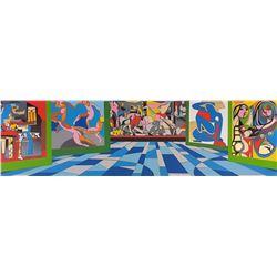 "Ugo Nespolo ""MUSEO DEL 900"" Original Serigraph"