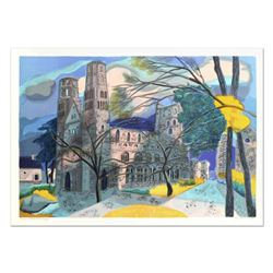 """Georges Lambert (1919-1998), """"Jumieges"""" Limited Edition Lithograph, Numbered and Hand Signed."""