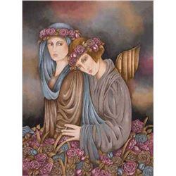 """Haya Ran- Original Serigraph """"Rose Garden Dream"""""""