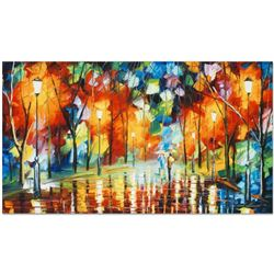 """Leonid Afremov (1955-2019) """"Mirror Streets"""" Limited Edition Giclee on Canvas, Numbered and Signed. T"""