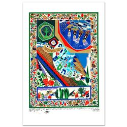 """Raphael Abecassis """"Tu B'Shvat"""" Limited Edition Serigraph; Numbered and Hand Signed; Certificate of A"""