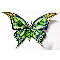 """Patricia Govezensky- Original Painting on Cutout Steel """"Butterfly CLXIX"""""""