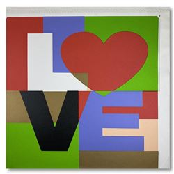 """Steve Kaufman (1960-2010), """"LOVE"""" Hand Signed and Numbered Limited Edition Hand Pulled silkscreen mi"""