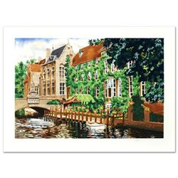 """""""Open Window in Belgium"""" Limited Edition Serigraph by Juan Medina, Numbered and Hand Signed with Cer"""