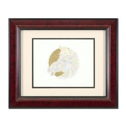 "Guillaume Azoulay, ""Remarque for Dragon Dore"" Framed Hand Colored Original Pen and Ink Drawing with"