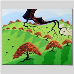 """Fall Fields"" Limited Edition Giclee on Canvas by Larissa Holt, Numbered and Signed. This piece come"