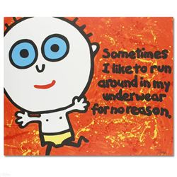 """Sometimes I Like to Run"" Limited Edition Lithograph by Todd Goldman, Numbered and Hand Signed with"