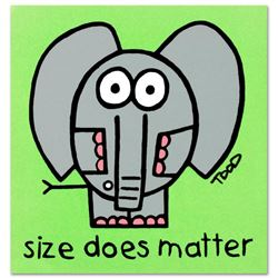 """""""Size Does Matter"""" Limited Edition Lithograph by Todd Goldman, Numbered and Hand Signed with Certifi"""