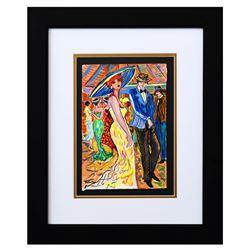 "Patricia Govezensky- Original Watercolor ""Dancing in the Club"""