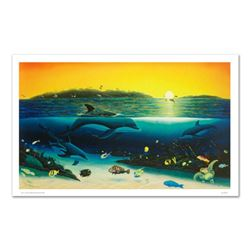 """""""Warm Tropical Waters"""" Limited Edition Giclee on Canvas (43"""" x 26"""") by Renowned Artist Wyland, Numbe"""