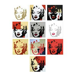 """Andy Warhol """"Golden Marilyn Portfolio"""" Limited Edition Suite of 10 Silk Screen Prints from Sunday B"""