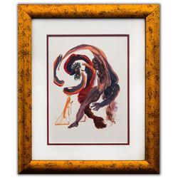 "Salvador Dali- Original Color Woodcut on B.F.K. Rives Paper ""Purgatory 18"""