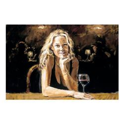 """Fabian Perez, """"First Blonde"""" Hand Textured Limited Edition Giclee on Board. Hand Signed and Numbered"""