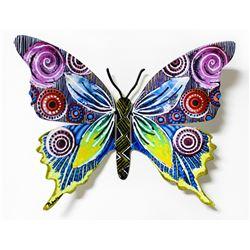 "Patricia Govezensky- Original Painting on Cutout Steel ""Butterfly CCLXXV"""
