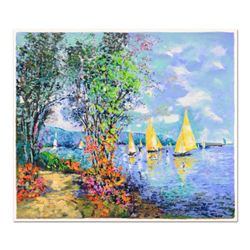 """Dimitri Polak (1922-2008), """"Lakeshore Fishing"""" Limited Edition Serigraph, Numbered and Hand Signed w"""