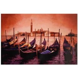 """Howard Behrens (1933-2014), """"Sunset on the Grand Canal 5"""" Limited Edition Hand Embellished Giclee on"""