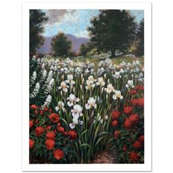 """""""Irises In A Meadow"""" Limited Edition Giclee (34"""" x 44"""") by Brian Davis, Numbered and Hand Signed wit"""